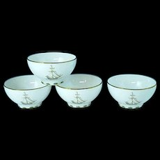 4 Lenox British Colonial Tradewind Rice Bowls, Excellent #2