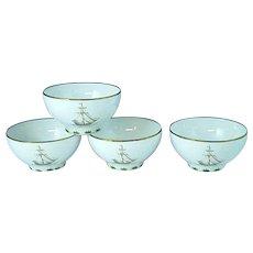 4 Lenox British Colonial Tradewind Rice Bowls Excellent #1