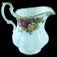 Vintage Royal Albert Old Country Roses Bone China Creamer Mint