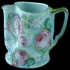 Antique Royal Bayreuth Bavaria Tapestry Cream Pitcher 1910