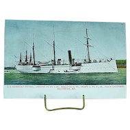 1904 Undivided Back Postcard USS Gunboat Petrel Spanish American War Ship