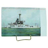 1904 Undivided Back Postcard USS Monitor Amphitrite Spanish American War Ship