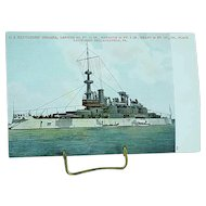 1904 Undivided Back Postcard USS Battleship Indiana Spanish American War Ship