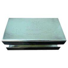Silver Plated Match Box Holder Qua Fecimus Ipsi Fulton Family Motto SCOTLAND