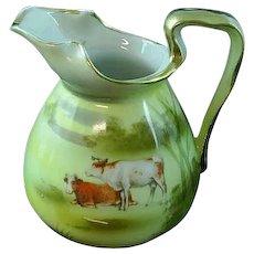 Antique Royal Bayreuth Highland Cows Creamer ca 1900
