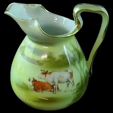 Antique Royal Bayreuth Highland Cows Creamer ca 1900
