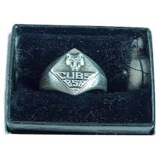 Vintage Sterling Silver Jewelry Boy Scout CUB SCOUT Logo Ring Size 4