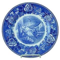 "Wedgwood 10 1/4"" Transfer Commemorative Plate Paul Reveres Ride April 18 1775"