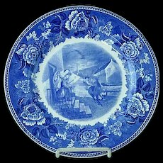 "Wedgwood 10 1/4"" Transfer Commemorative Plate Paul Reveres Ride April 18 1775"