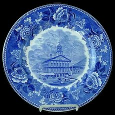 Wedgwood 10 1/4 Transfer Commemorative Plate Faneuil Hall Cradle Of Liberty