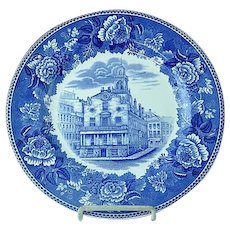 "Wedgwood 10 1/4"" Transfer Commemorative Plate Old South Church Built 1657"