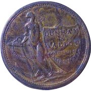 1811 English Half Penny Condor Dunham & Vallop GoldSmith Norwich