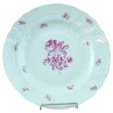 "Vintage Herend Raspberry Rose Porcelain 10"" Dinner Plate - MINT #3"