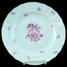 "Vintage Herend Raspberry Rose Porcelain 10"" Dinner Plate #2"