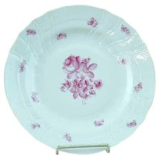 "Vintage Herend Raspberry Rose Porcelain 10"" Dinner Plate #4"