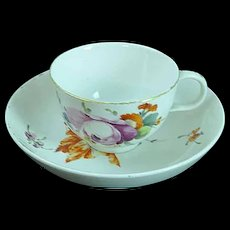 Antique 18th C Den Haag Porcelain Cup & Saucer Porzellan Tasse The Hague Dutch #2