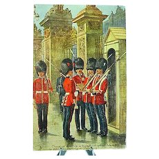 1908 Postcard Raphael Tuck Oilette The Coldstream Guard #3546 Signed Harry Payne