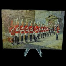 1908 Postcard Raphael Tuck Oilette The 1st Life Guards #3546 Signed Harry Payne