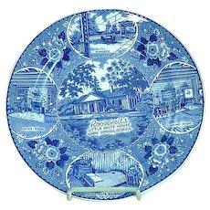 Staffordshire Transfer Souvenir Plate Roosevelts Little White House Warm Springs GA