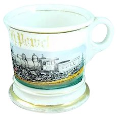Antique Occupational Shaving Mug T&V Limoges Brotherhood Of Locomotives