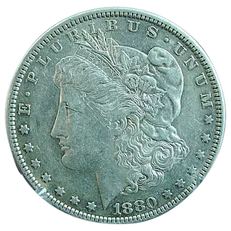 1880 Morgan Silver Dollar Extra Fine