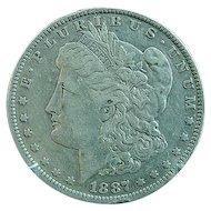 1887 O Morgan Silver Dollar Fine Condition