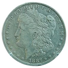1887 O Morgan Silver Dollar Fine Condition
