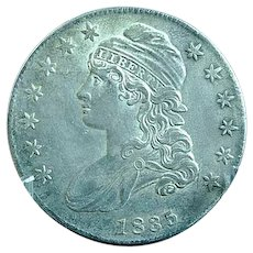 1835 Capped Bust Half Dollar Sharp Coin Estate Find