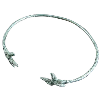 Vintage Sterling Silver Cuff Bracelet With Star Fish