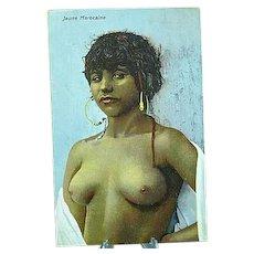 1920 Jeune Fille Marocaine Postcard Semi Nude African Beauty