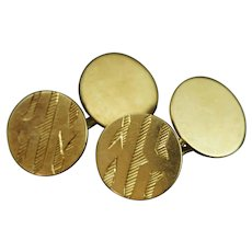 Heavy Solid 14k Gold Art Deco Cuff Links