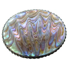 Vintage Sterling Silver NZ Paua Shell By Ariki Of New Zealand Brooch Pin 2