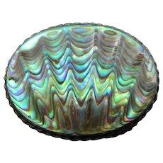 Vintage Sterling Silver NZ Paua Shell By Ariki Of New Zealand Brooch Pin 1