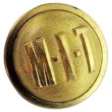 Antique Massachusetts Institute Of Technology MIT Brass Uniform Button