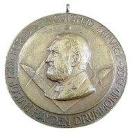 1902 Josiah Drummond Distinguished Service Masonic Medal Grand Lodge Of Maine