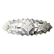 19th Century English Georgian Sterling Silver Brooch Pin London Ca 1830