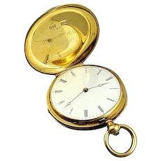 Patek Philippe Geneva 18K Gold Pocket Watch Runs Estate Find Dated 1874