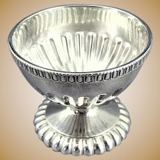 Antique Coin Silver Master Salt Cellar Dip Dish Boston Ca 1850