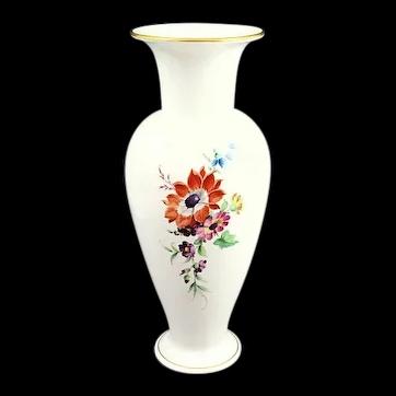 "9 1/2"" Floral KPM Hand Painted Vase"