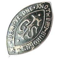 Sterling Silver Bear Ye One Anothers Burdens GFS Girls Friendly Society Pin