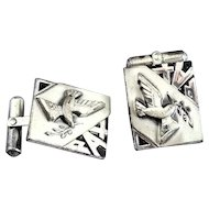 Sterling Silver Creed Pax Dove Cufflinks