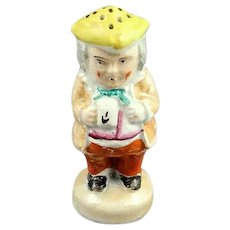 Victorian English Staffordshire Pottery Toby Sugar Shaker