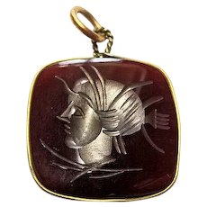 Carnelian Intaglio Watch Fob Or Pendant