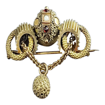Fancy Victorian Gold Filled Brooch Pin
