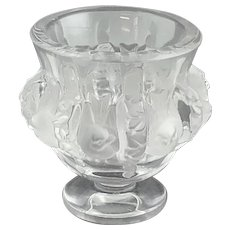 "Lalique Paris Crystal Glass - Dampierre Vase ""Birds and Vines"""