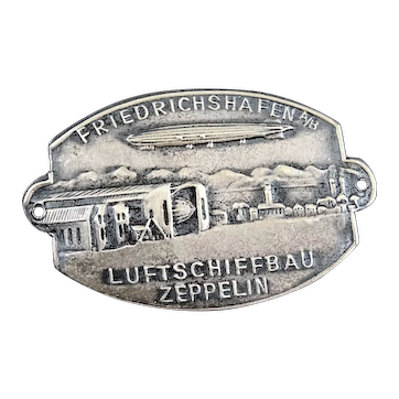 WWII Friedrichshafen Luftschiffbau Zeppelin Tinnie Badge Emblem