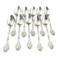 10 Gorham Versailles Sterling Silver Demitasse Spoons