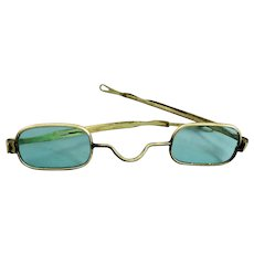 Antique Spectacles Eyeglasses With Green Lenses