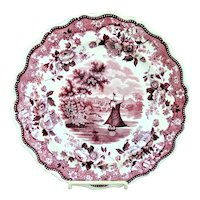 Staffordshire Transfer Plate Hartford Connecticut By Jackson Ca 1835