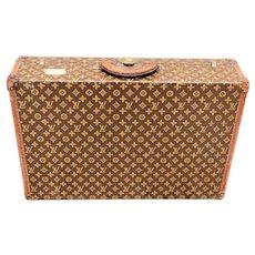 Antique Louis Vuitton Hard Suitcase Travel Trunk